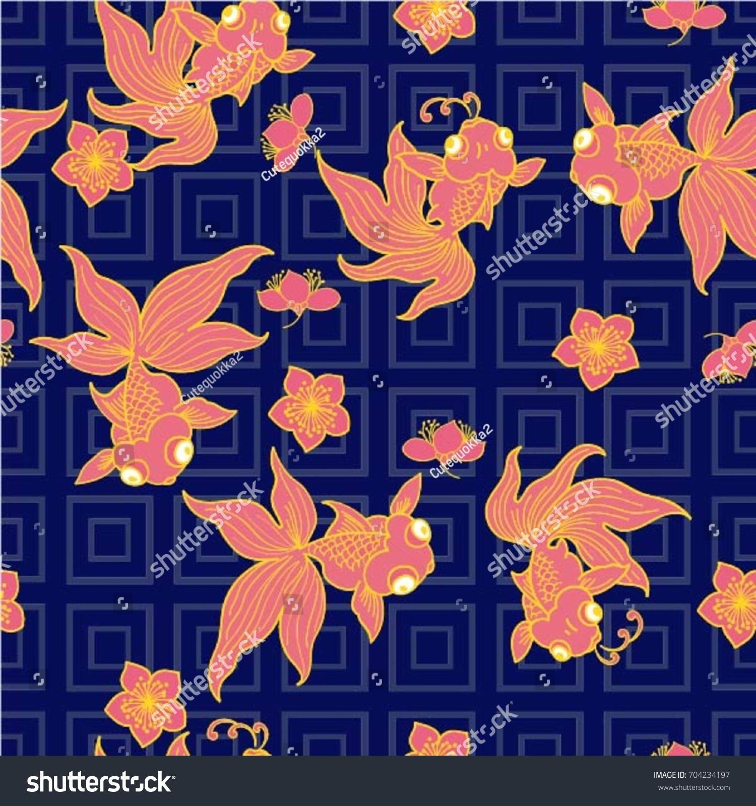 Goldfish popular symbols chinese art their stock vector 704234197 goldfish are popular symbols in chinese art as their name is a homophone for the two buycottarizona Images