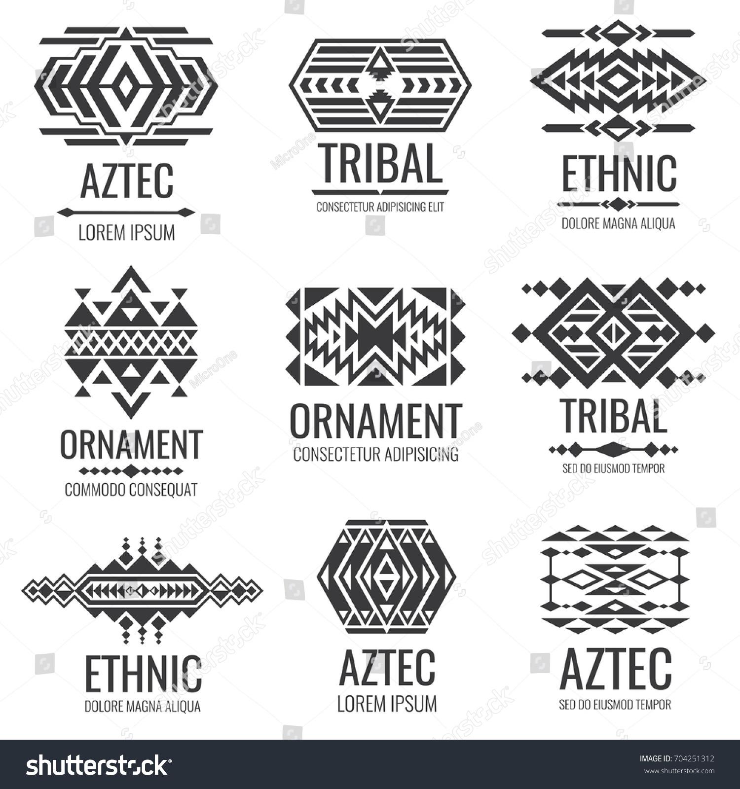 Mexican aztec symbols vintage tribal vector stock vector 704251312 mexican aztec symbols vintage tribal vector ornaments illustration of traditional native navajo decoration ethnic biocorpaavc Gallery