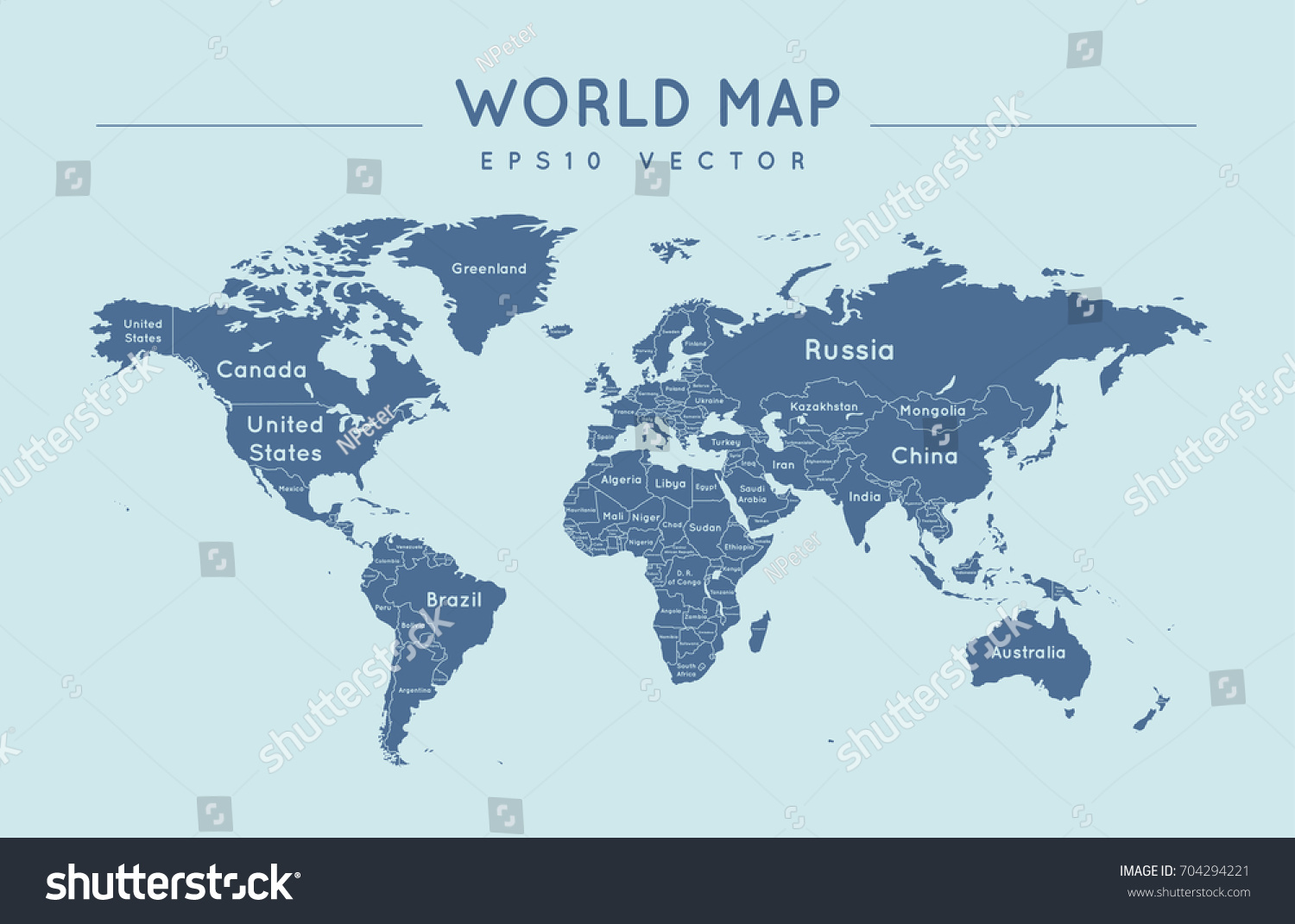 Political world map name borders countries stock photo photo political world map with the name and borders of the countries gumiabroncs Images