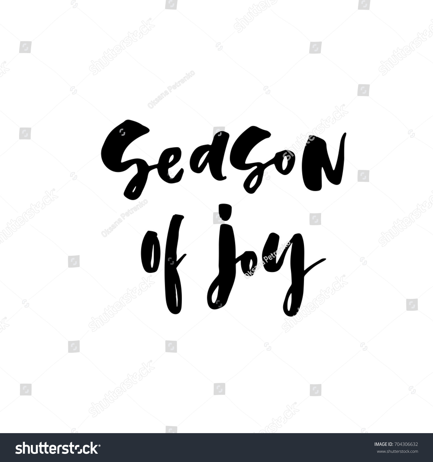 Vector christmas card lettering quote season stock vector vector christmas card with the lettering quote season of joy xmas design for greeting kristyandbryce Image collections