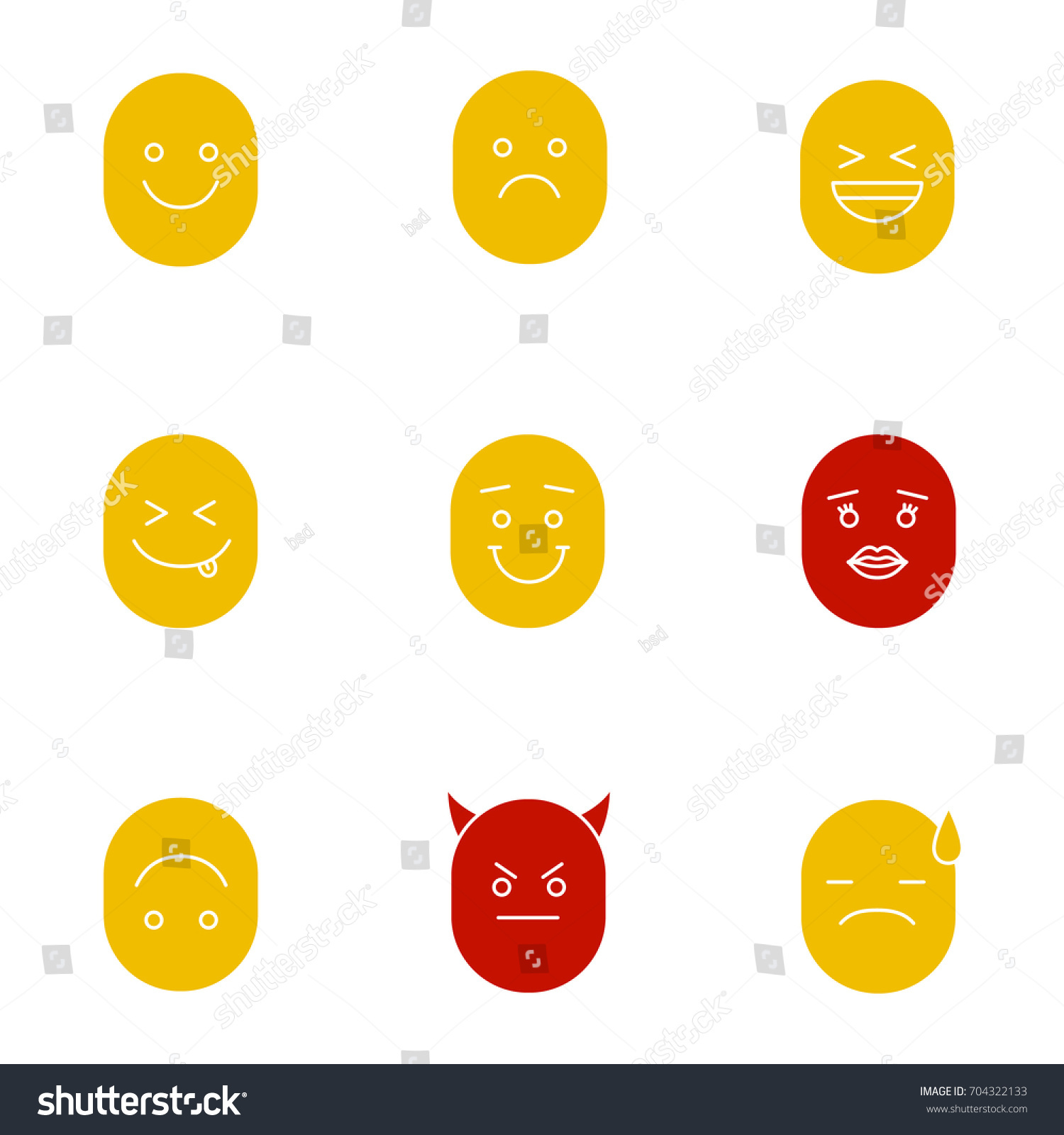 Smiles glyph color icon set silhouette stock vector 704322133 silhouette symbols on white backgrounds smiling laughing buycottarizona
