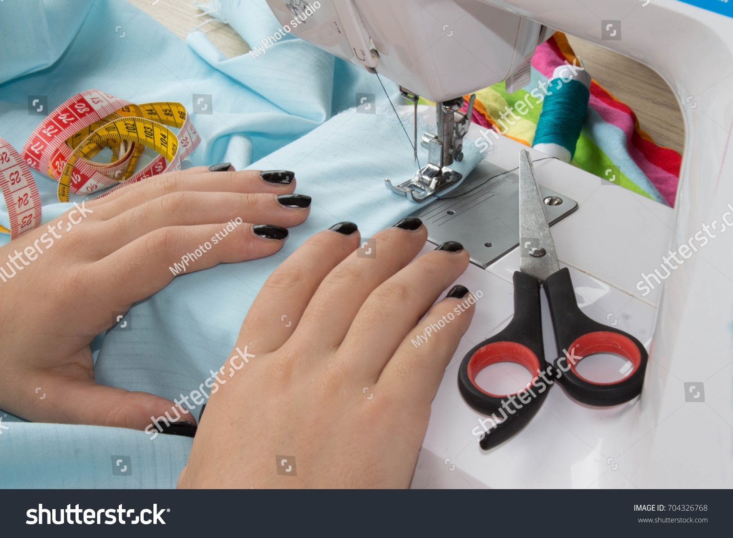 Designer Making Garment Her Workplace Woman Stock Photo (Download ...