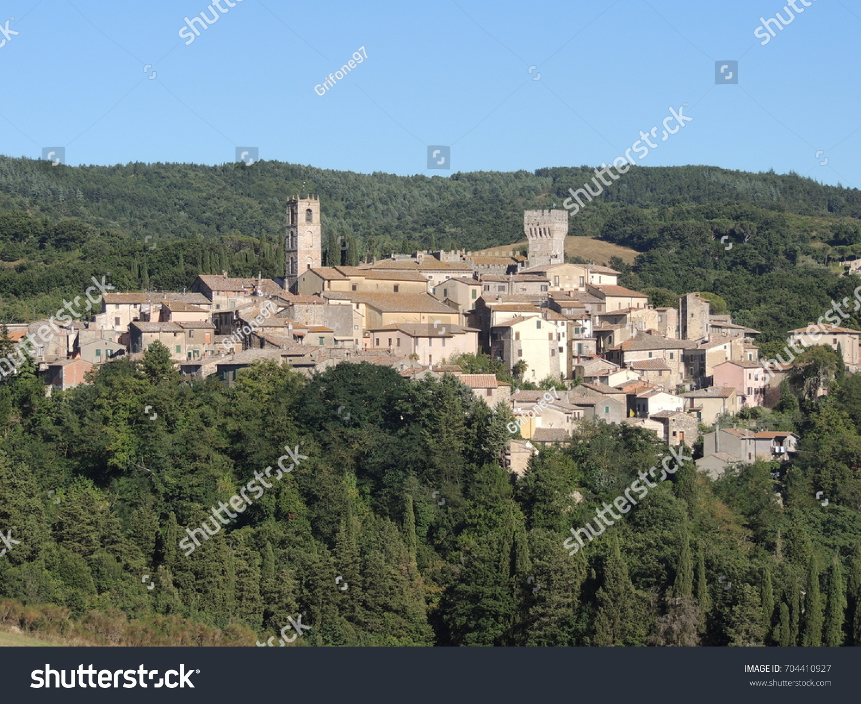 View San Casciano Dei Bagni Tuscany Stock Photo (Royalty Free ...