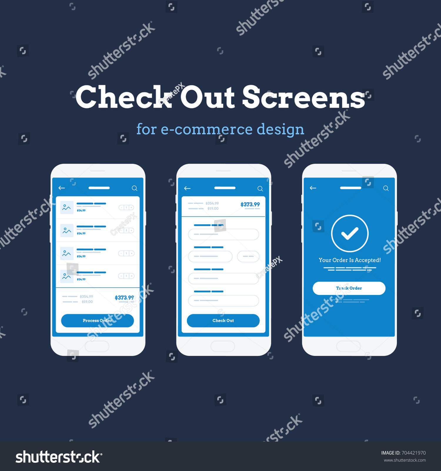 Mobile App Wire Frame UI Kit Stock Vector 704421970 - Shutterstock