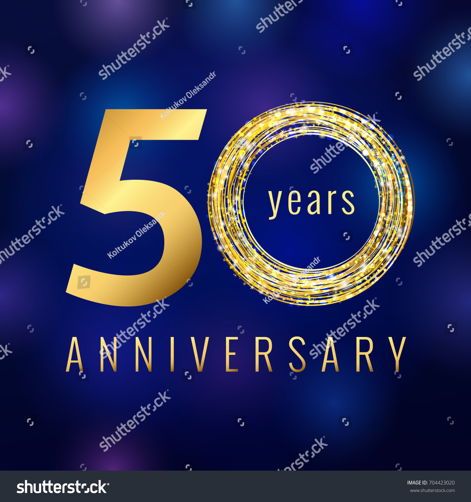 50 years old luxurious numbers congratulations stock vector 50 years old luxurious numbers congratulations 50th vector gold colored template sign with sparks pronofoot35fo Image collections