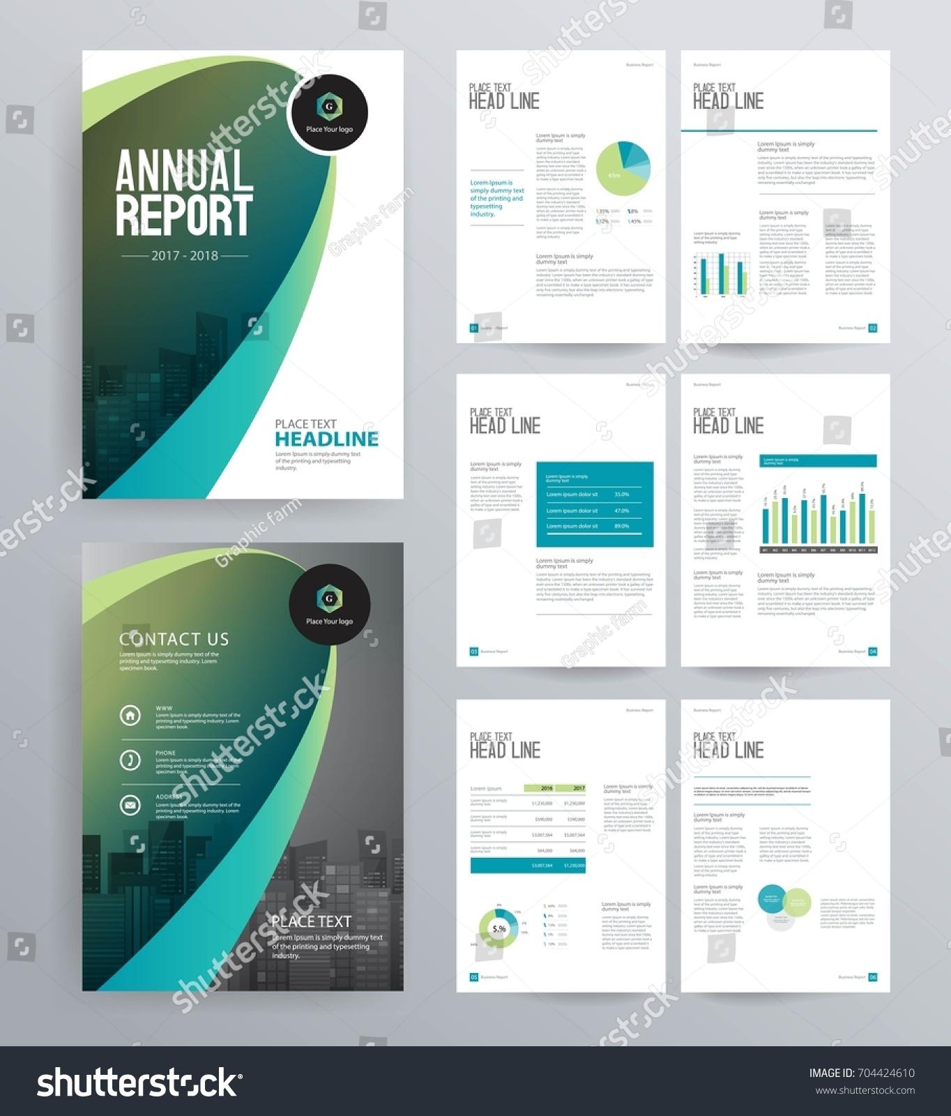 template design company profile annual report のベクター画像素材