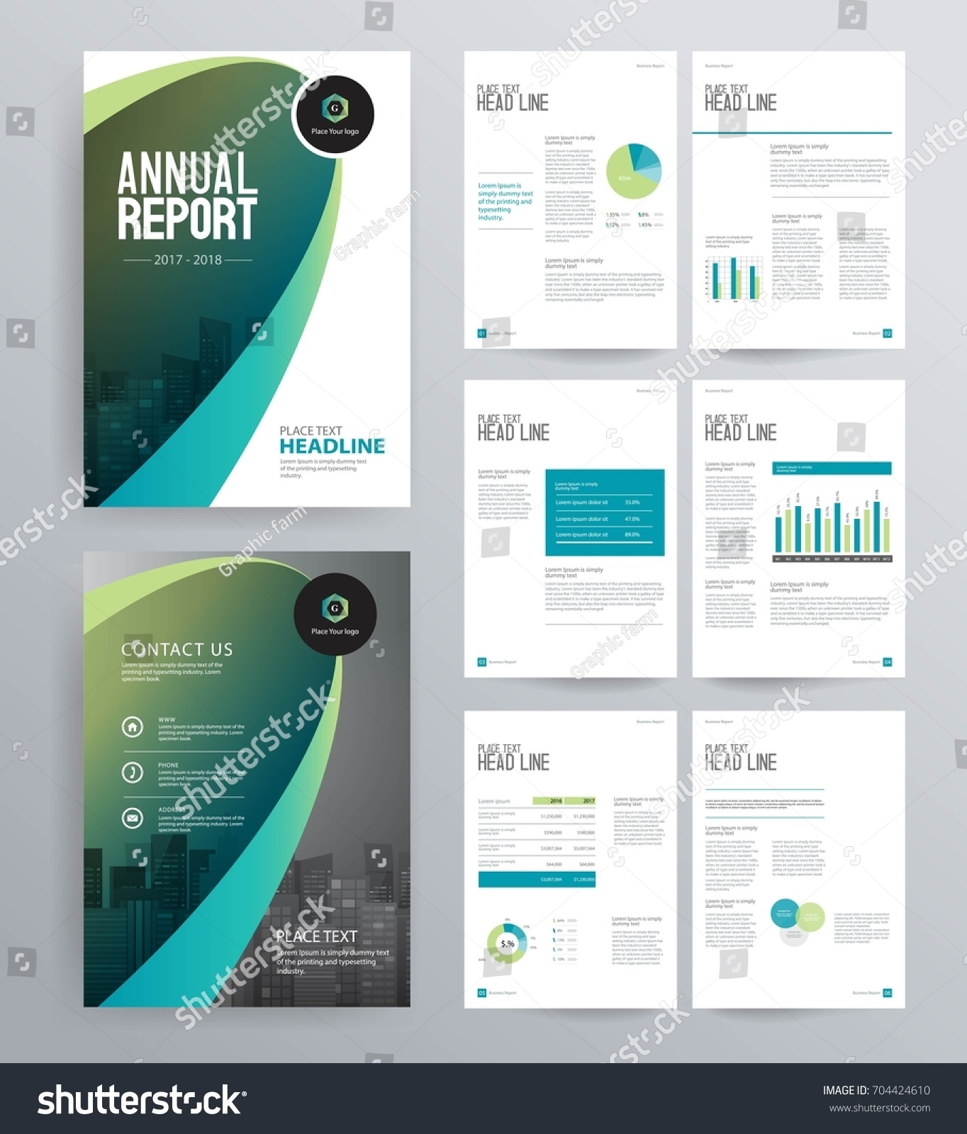 Template design company profile annual report stock vector for Security company profile template