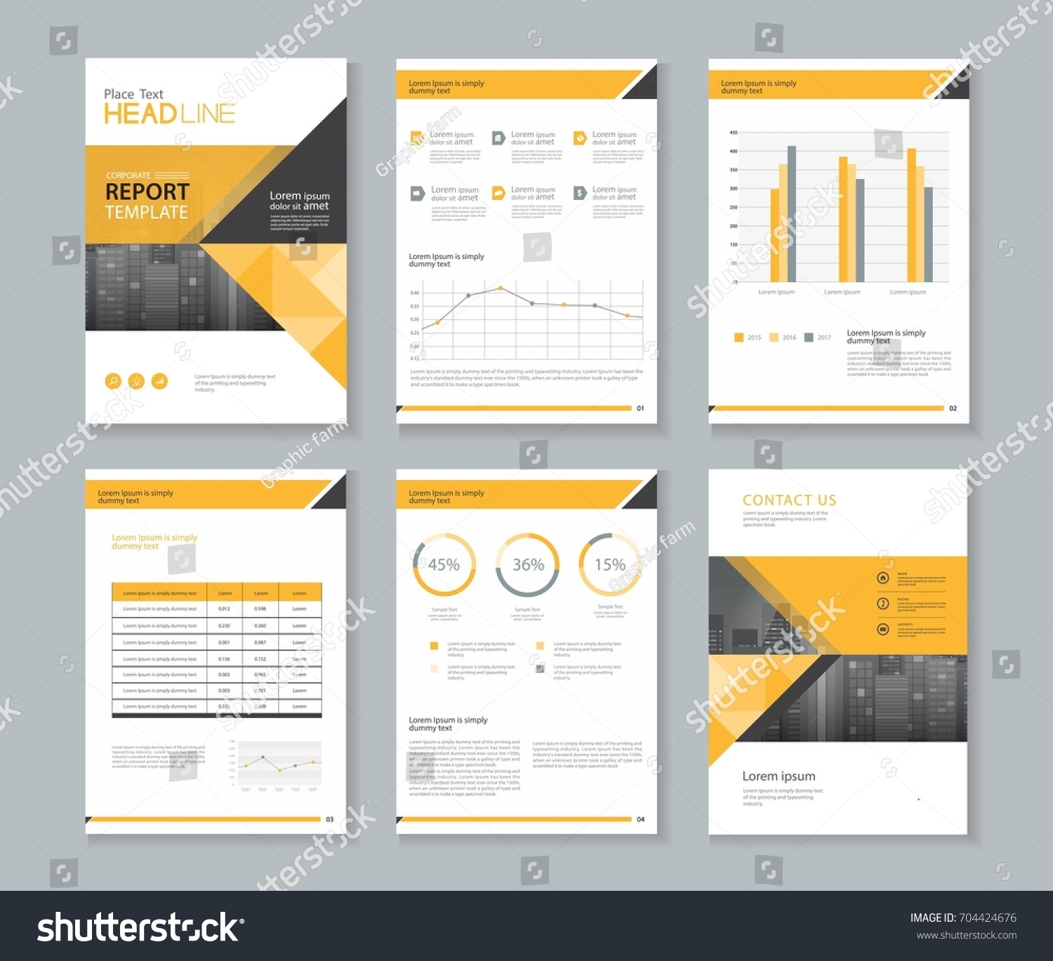 Template Design For Company Profile ,annual Report , Brochure , Flyer ,and  Page Layout  Corporate Profile Template