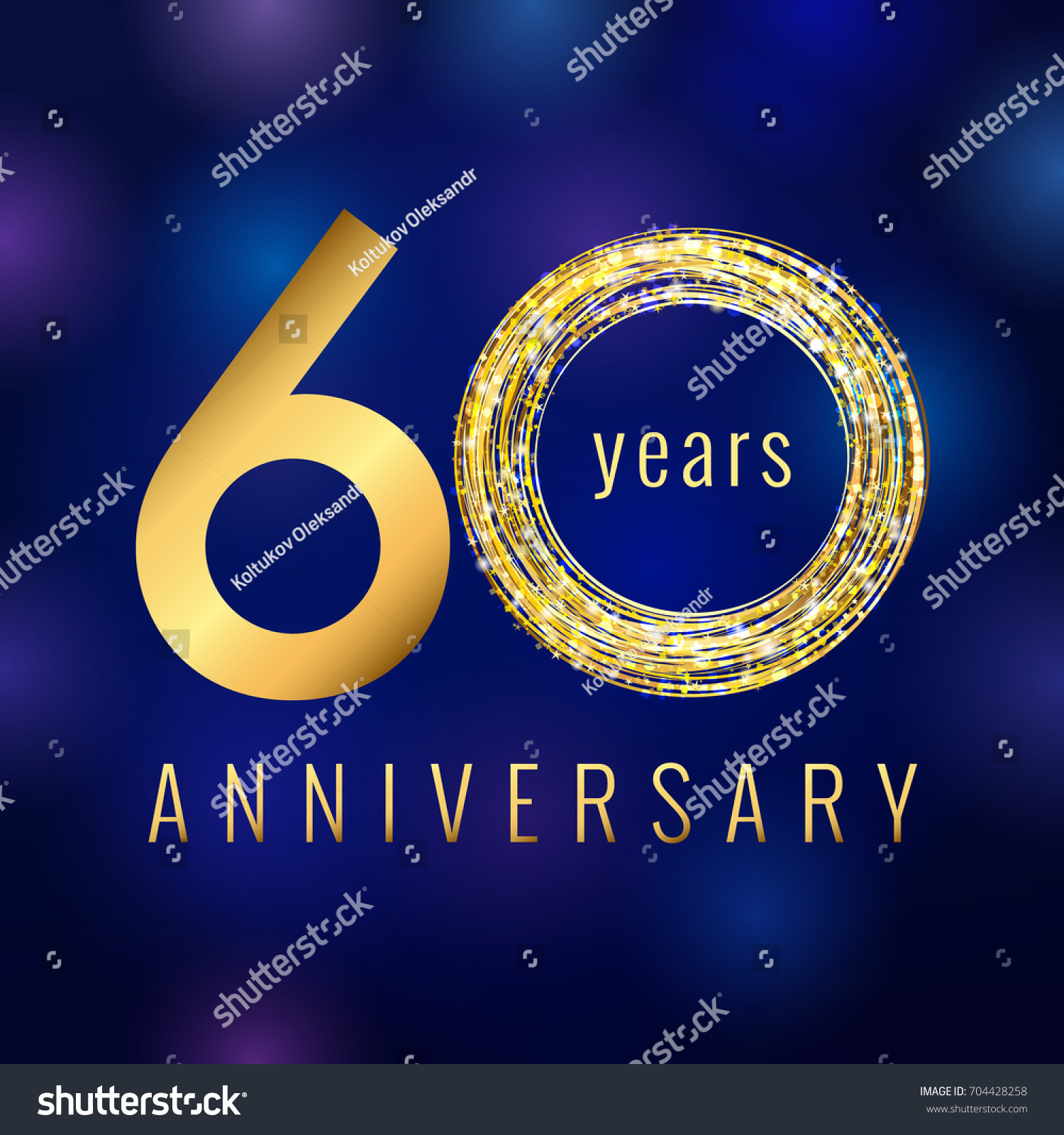 60 years old luxurious numbers congratulations stock vector 60 years old luxurious numbers congratulations 60th vector gold colored template sign with sparks pronofoot35fo Images