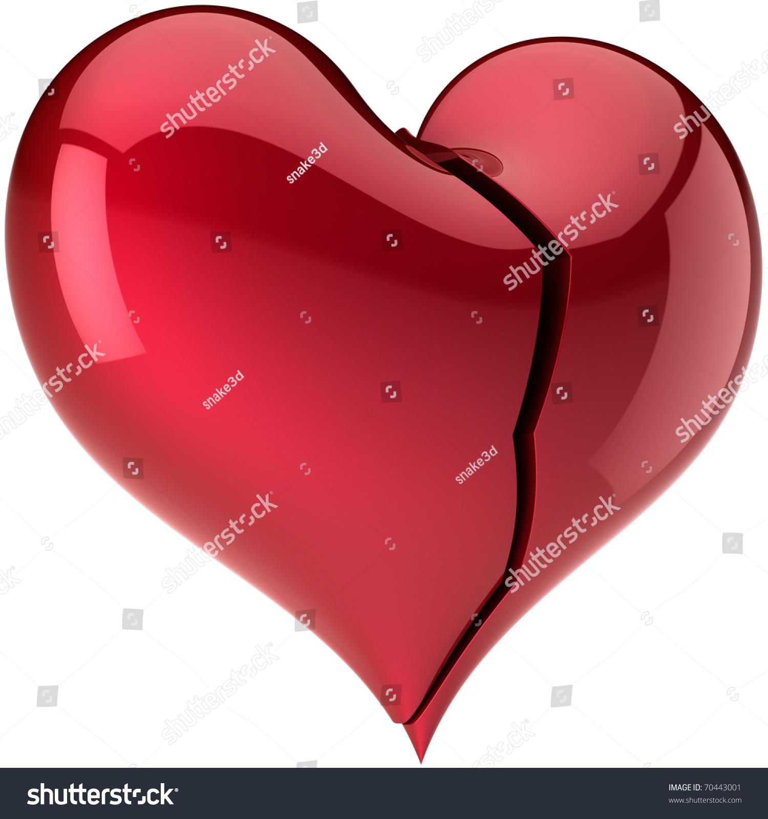 Broken Heart Crack Failure Love Composition Stock Illustration