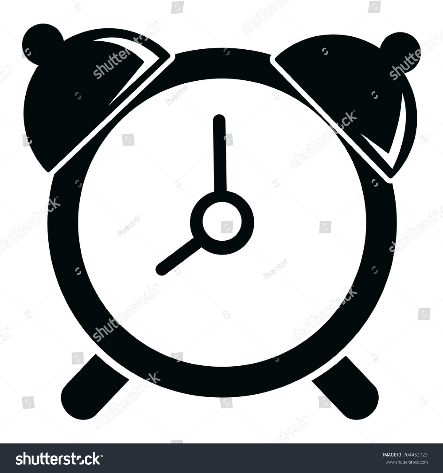 alarm clock icon simple illustration alarm stock vector 704452723 rh shutterstock com alarm clock vector freepik alarm clock vector free download
