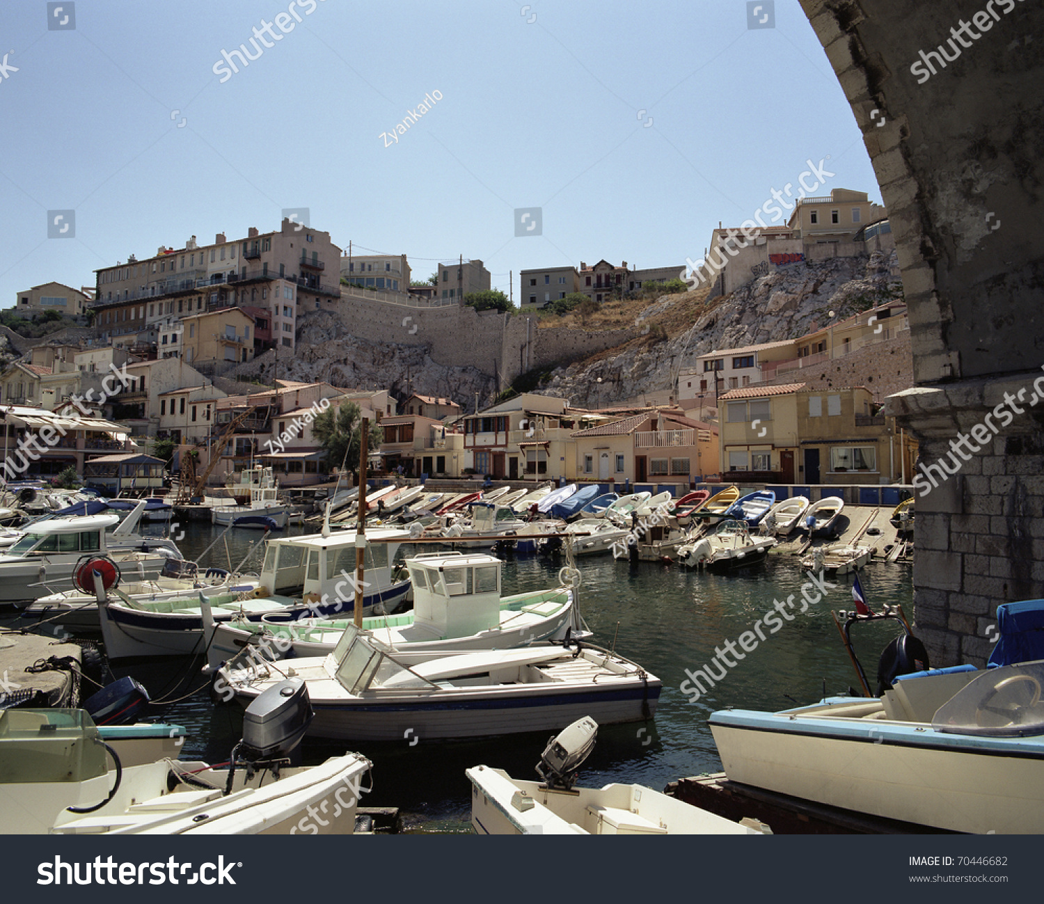 the ancient port vallon des auffes in marseille in. Black Bedroom Furniture Sets. Home Design Ideas