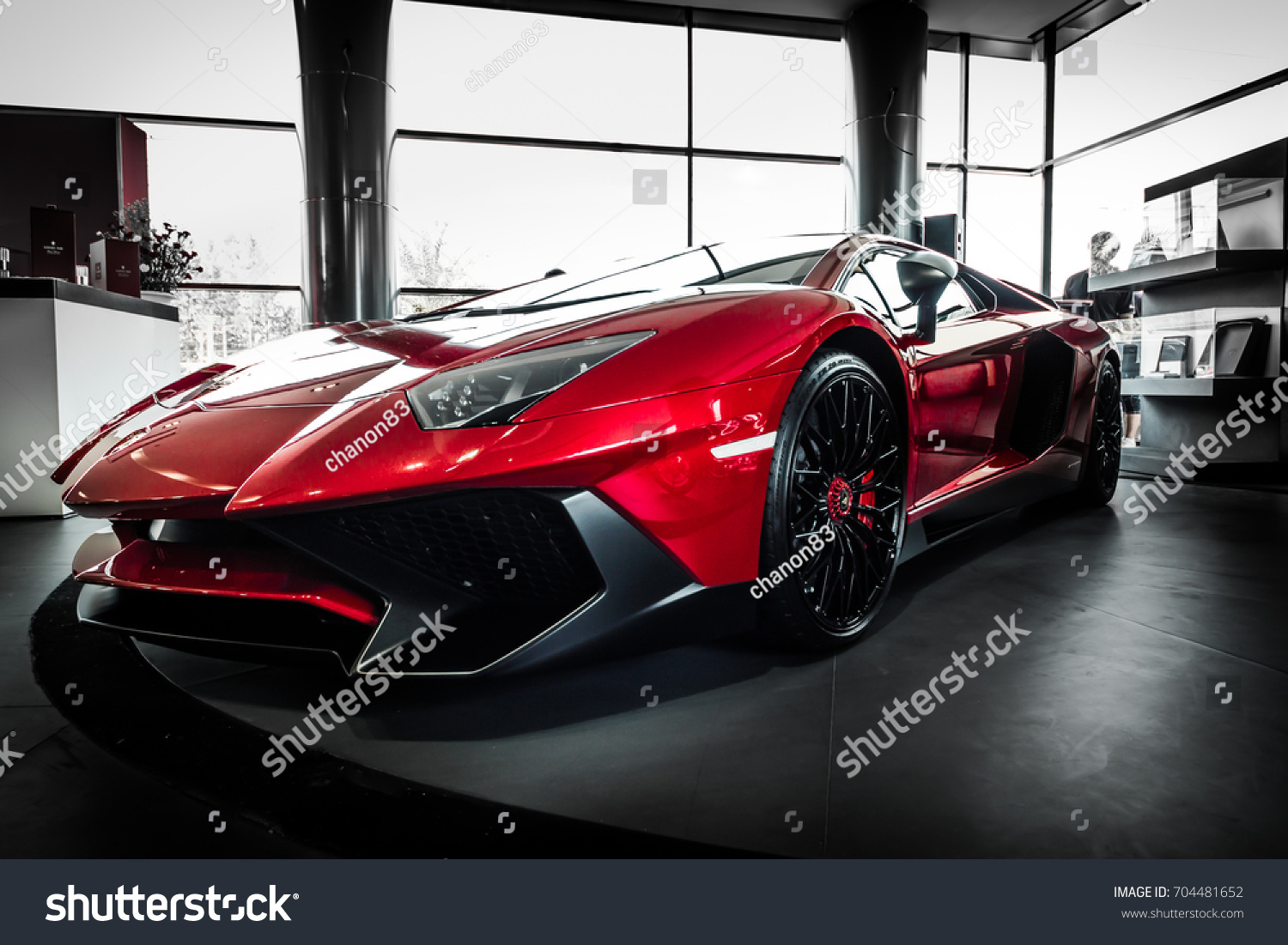Bangkok, Thailand   August 26, 2016: Niche Cars Group Launches Lamborghini  Aventador SuperVeloce