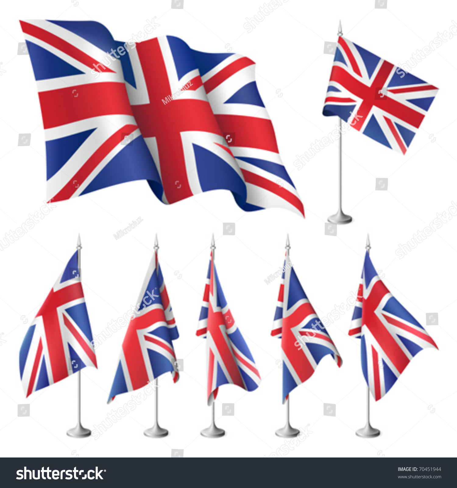 great britain vector flags set flags stock vector 70451944
