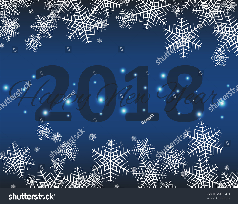 Happy New 20178 Year Seasons Greetings Stock Vector Royalty Free