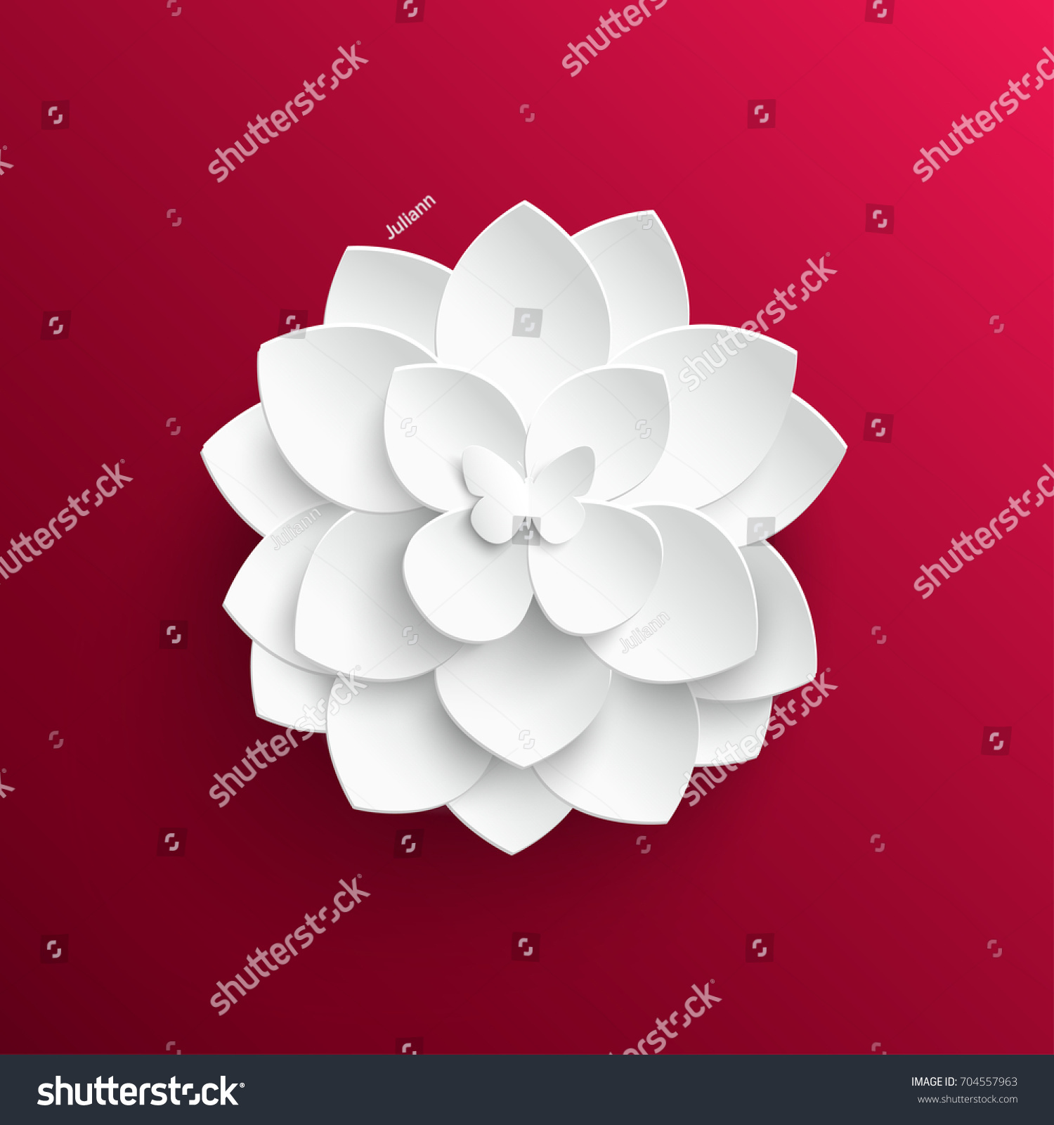 Paper Flower Lotus Cut Paper Wedding Stock Photo (Photo, Vector ...