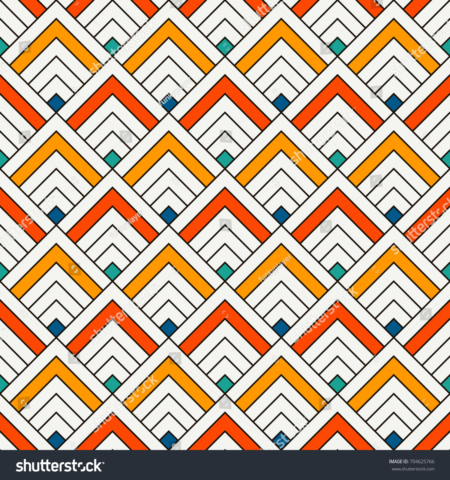 Repeated Chevrons Abstract Wallpaper Asian Traditional Stock Vector 704625766