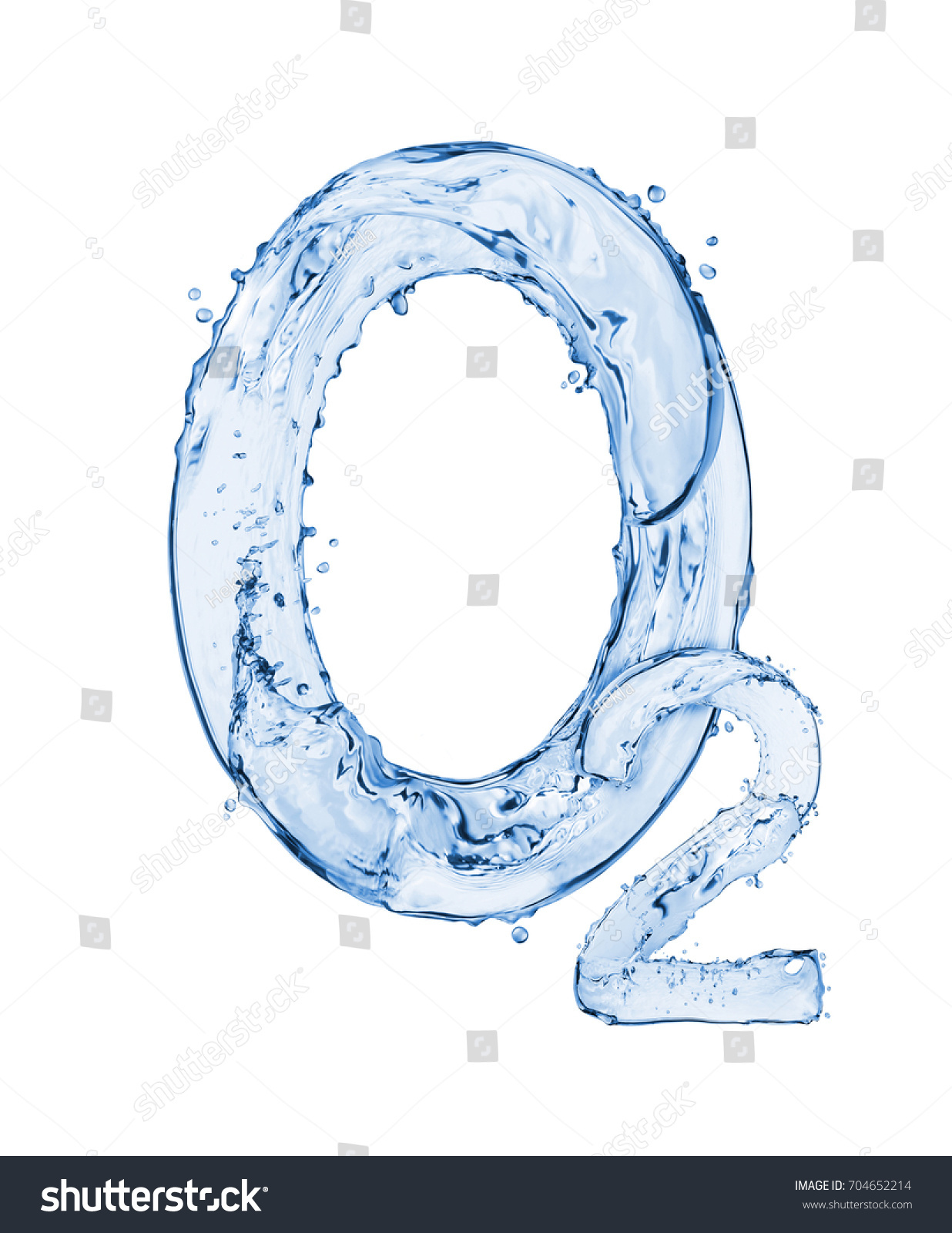Chemical formula oxygen made water splashes stock photo 704652214 chemical formula of oxygen made of water splashes isolated on white background buycottarizona Image collections