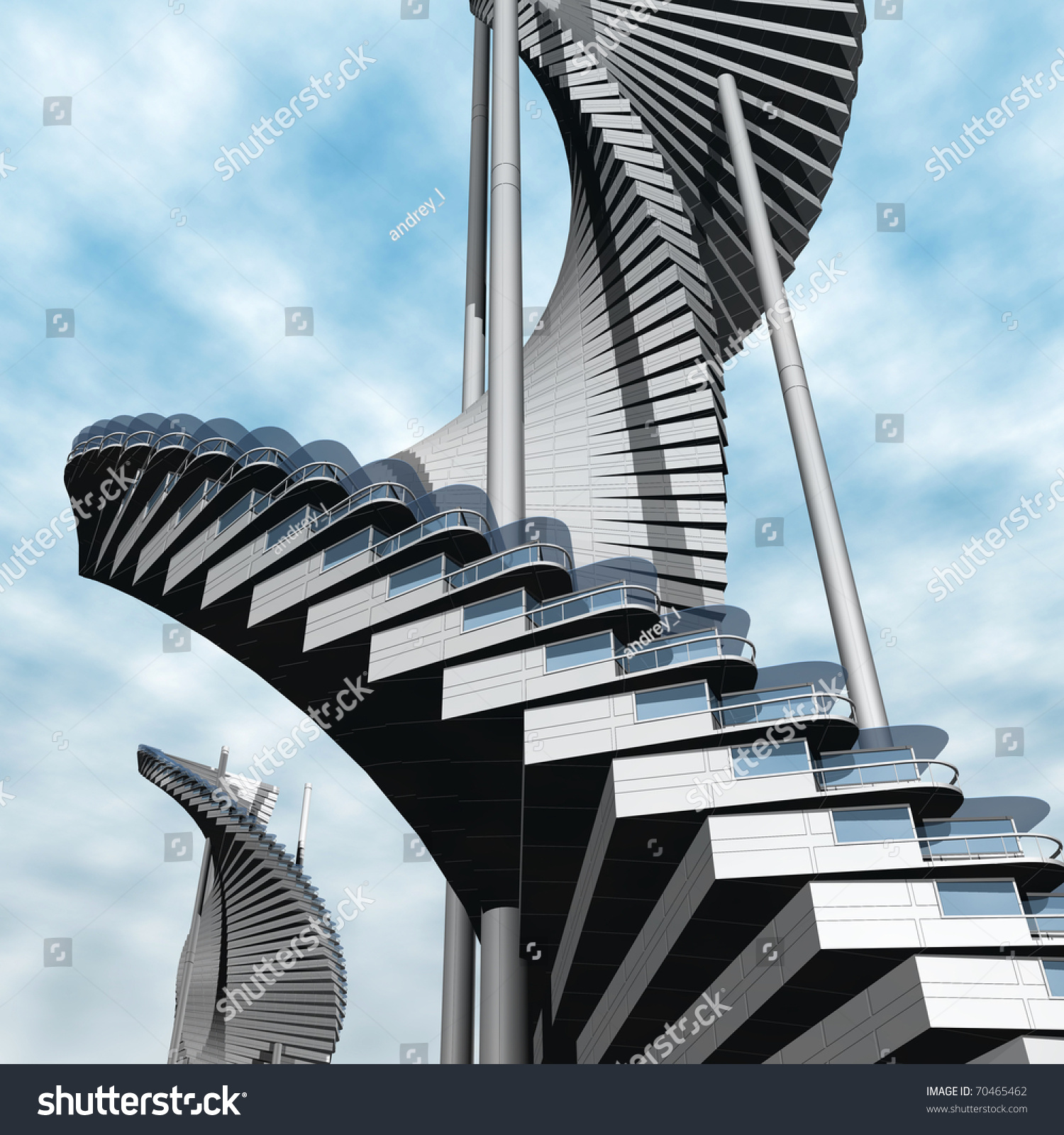 Future Architecture Stock Illustration 70465462 Shutterstock