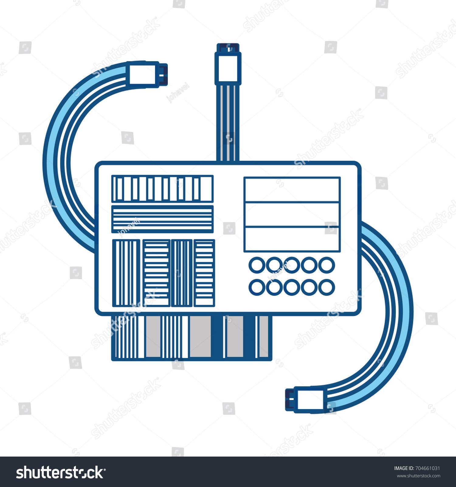 Microchip Integrated Circuit Stock Vector 704661031 - Shutterstock