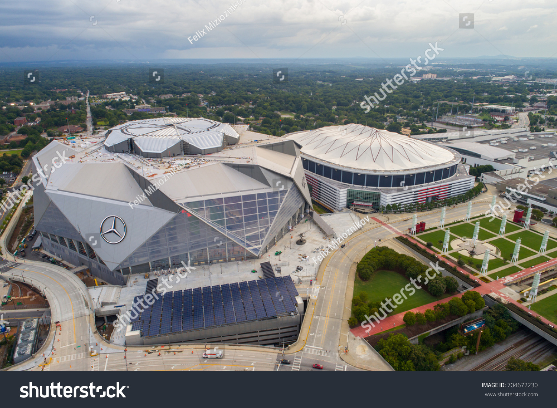 Atlanta ga usa august 102017 aerial stock photo 704672230 for Mercedes benz dome in atlanta