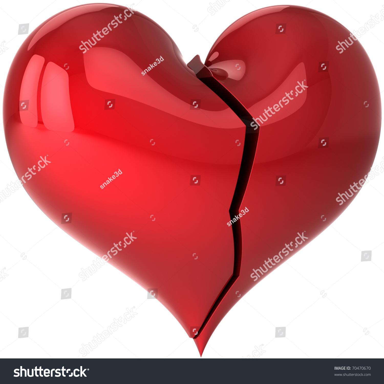 Heart Shape Broken Crack Hate You Stock Illustration 70470670