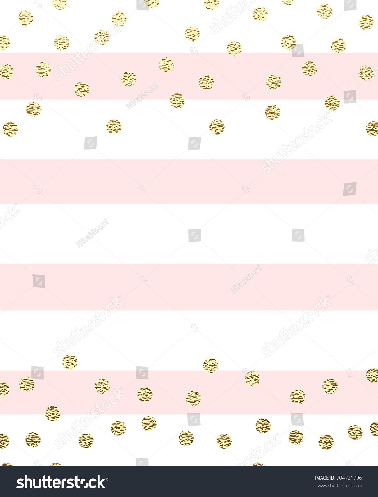 Minimalist invitation design gold glitter circles stock vector 2018 minimalist invitation design with gold glitter circles and pink stripes stopboris Images