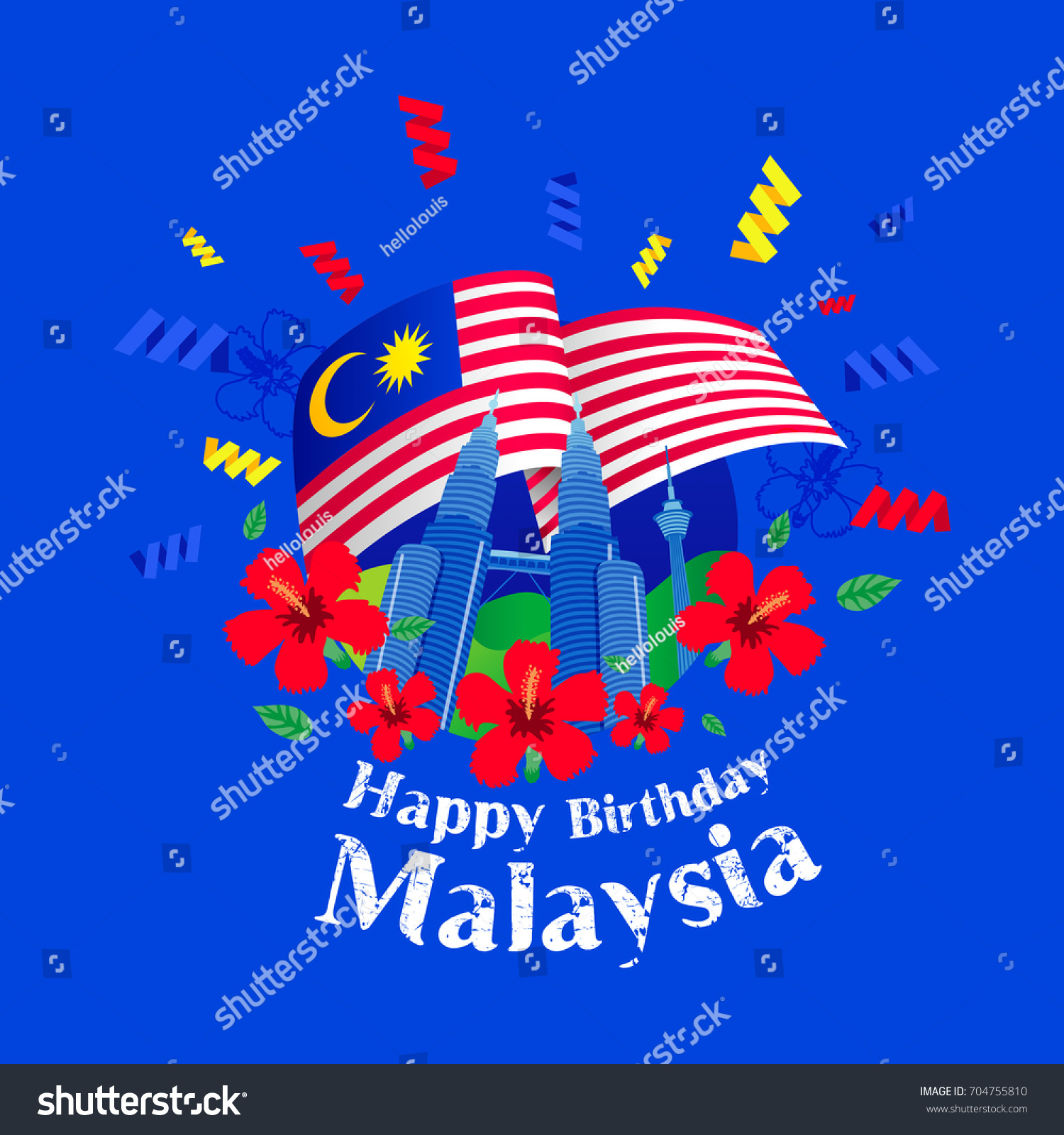Klcc Malaysia August 311957 Celebrating Happy Stock Vector