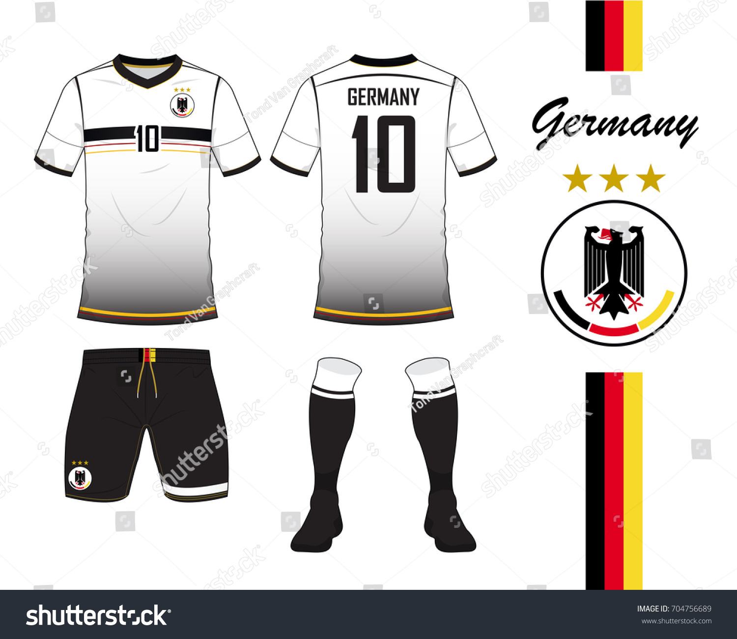 Germany football national team in Euro Championship concept. Soccer jersey  or football kit template. 4dee41e6c