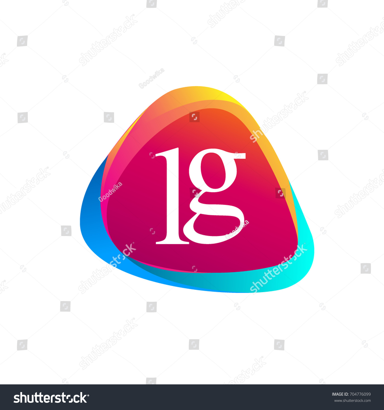 Letter Lg Logo Triangle Shape Colorful Stock Vector Royalty Free