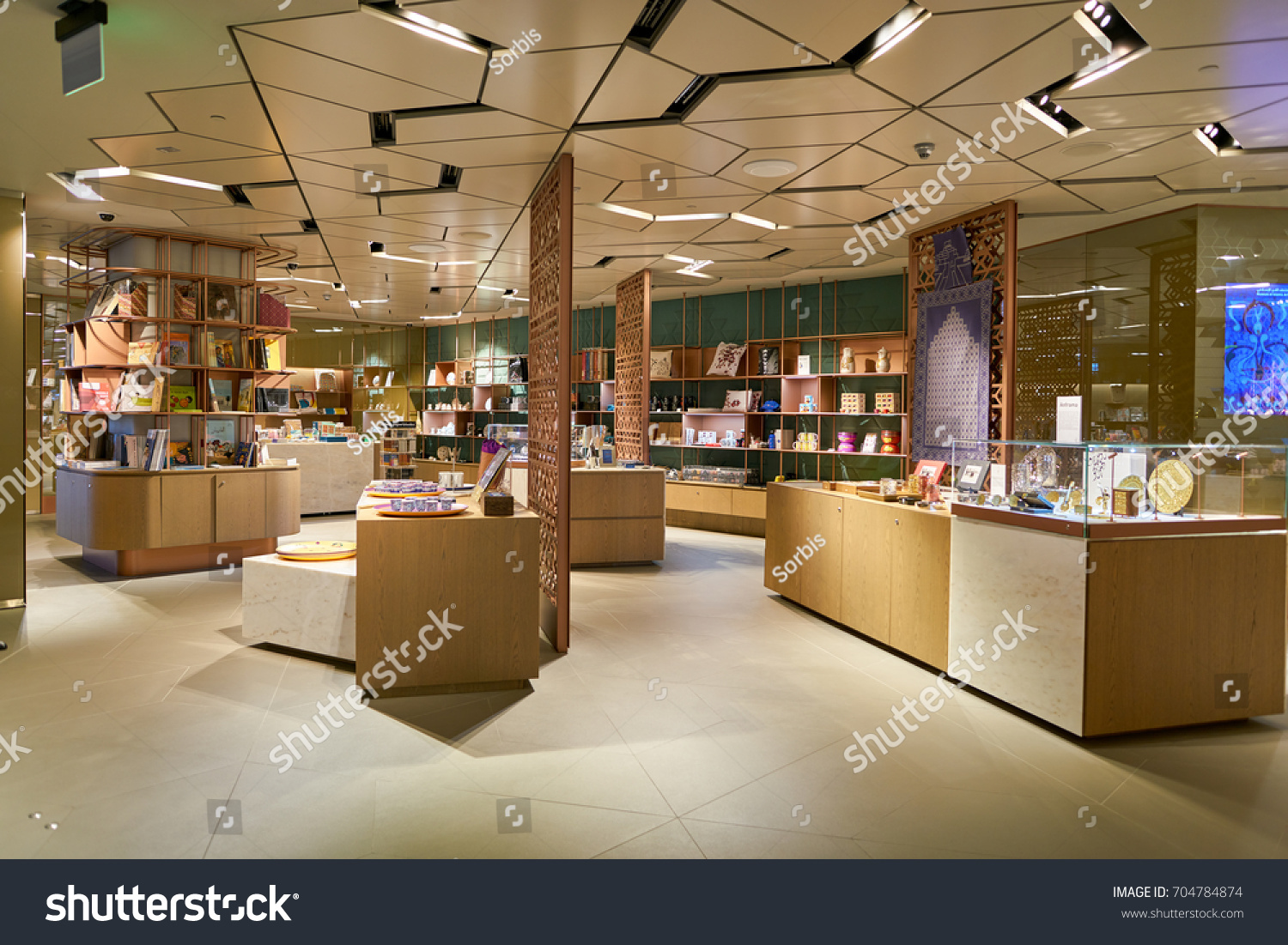 DOHA, QATAR - CIRCA MAY, 2017: In-Q Gift Shop at Hamad