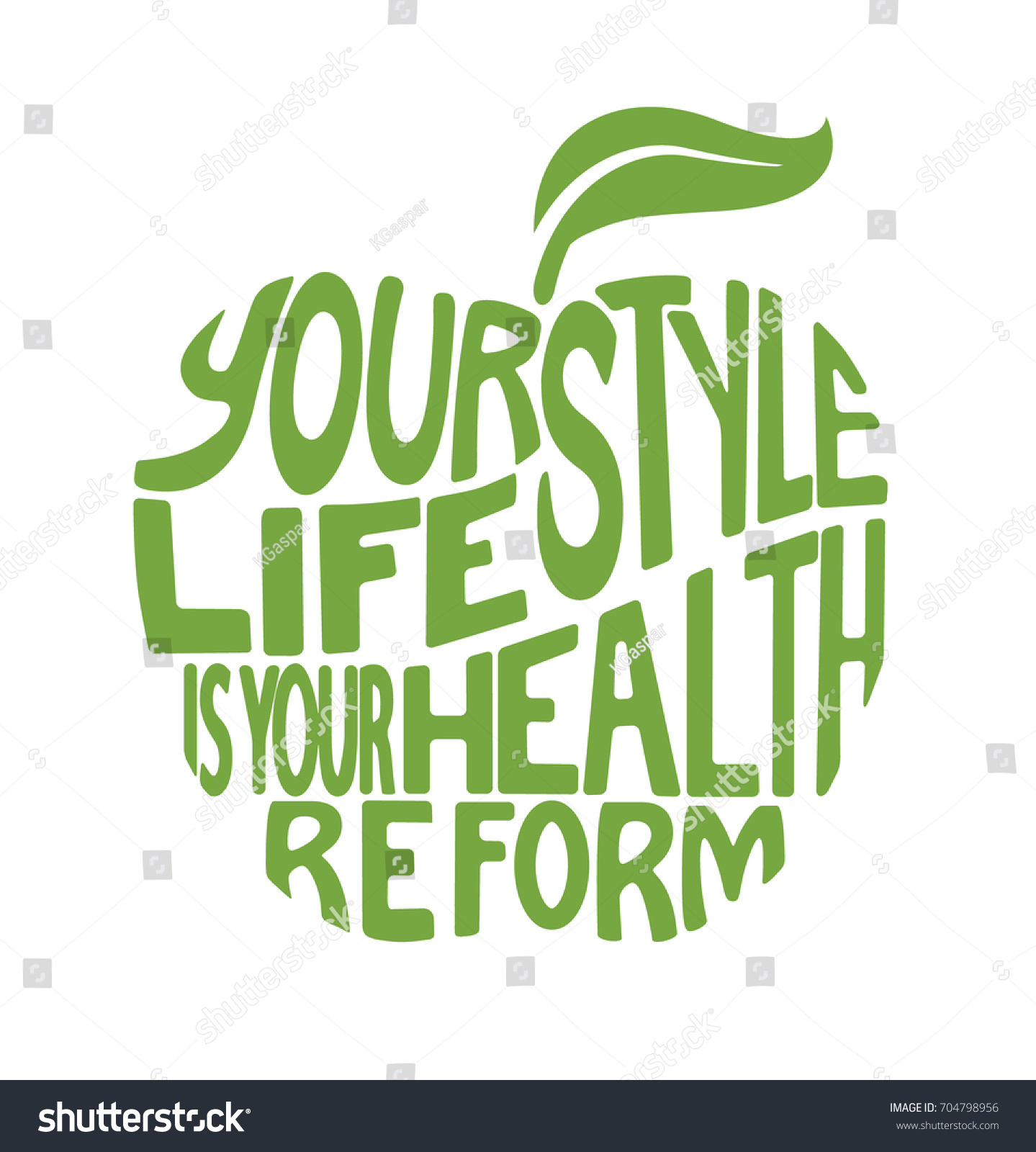 Health Quote Health Quote Design Form Apple Stock Vector 704798956  Shutterstock