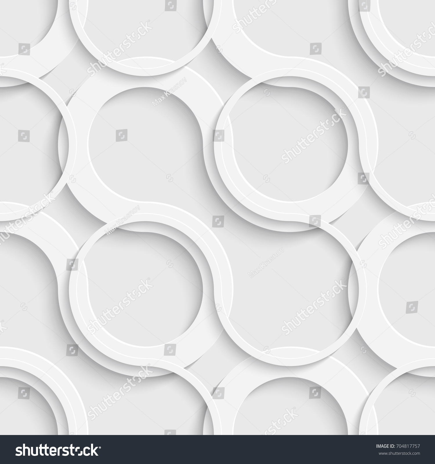 Seamless Grid Wallpaper 3d White Curved Background Vector Geometric Texture