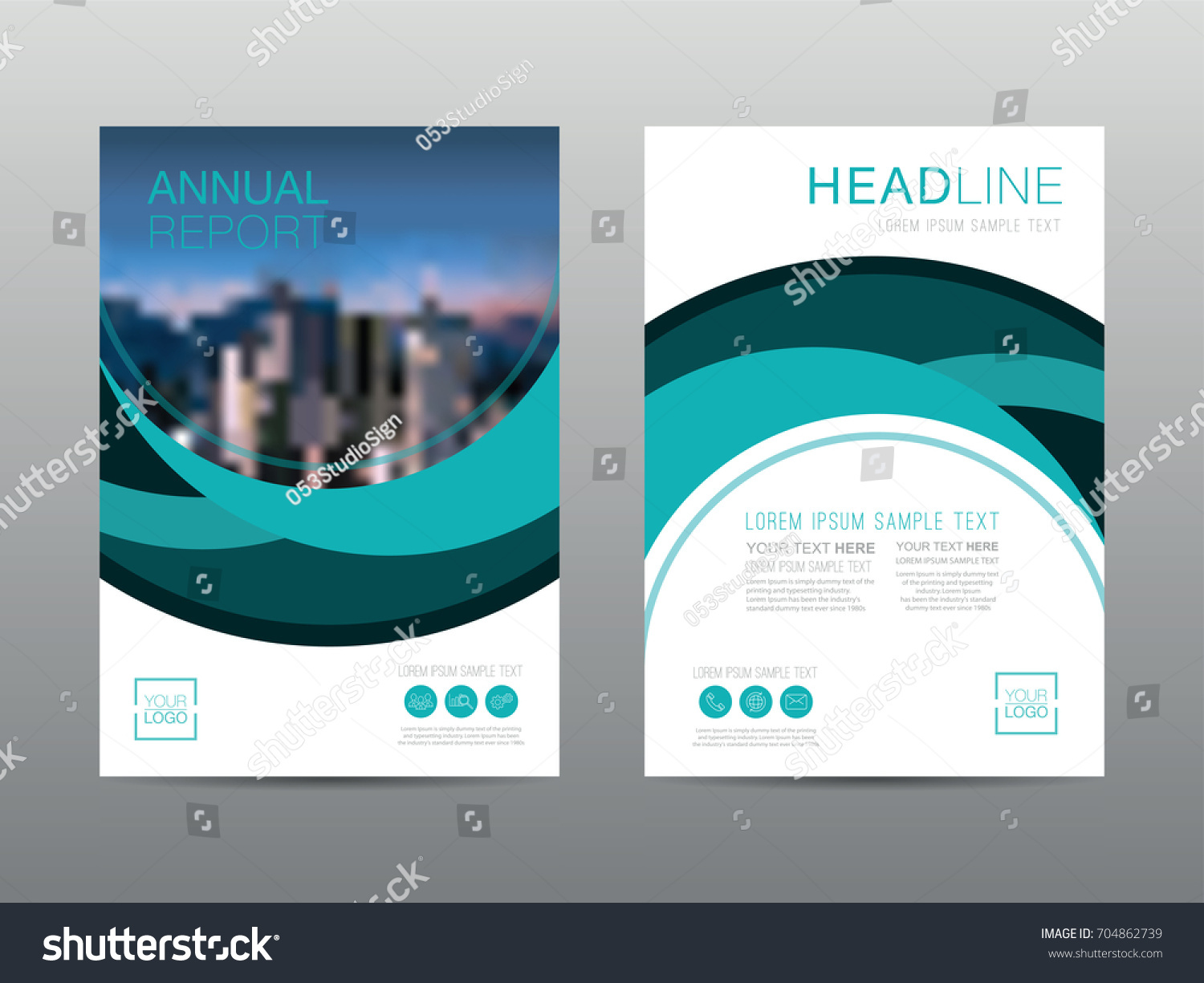 Annual Report Brochure Layout Design Template Stock Vector HD ...