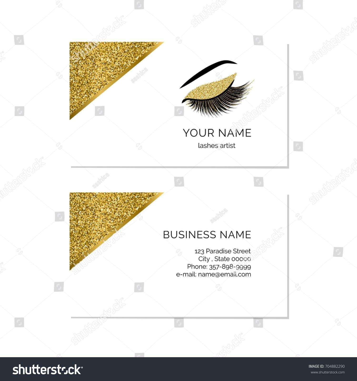 Makeup Artist Business Card Vector Template Stock Vector 704882290 ...
