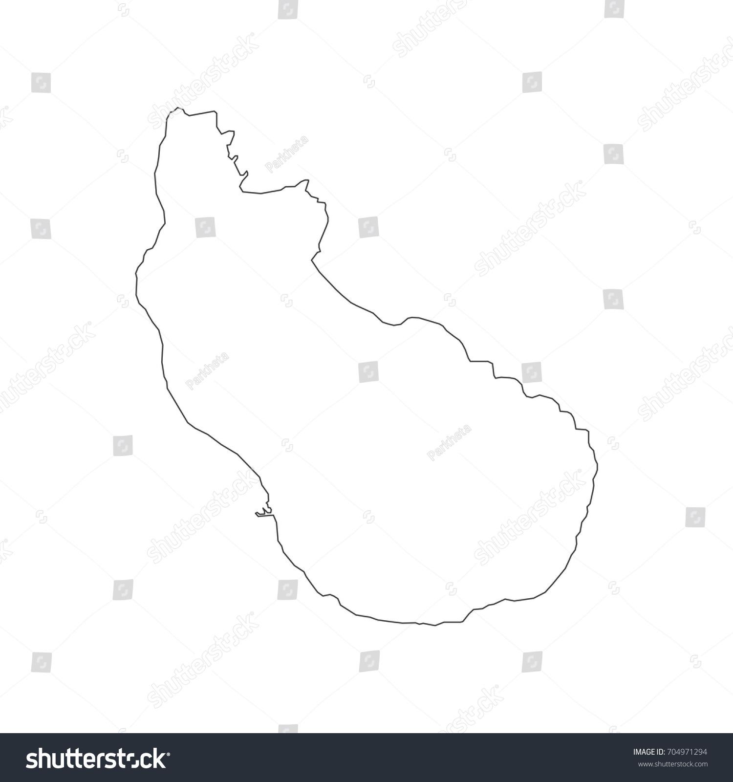 Sint Eustatius Map On White Background Stock Vector - Sint eustatius map