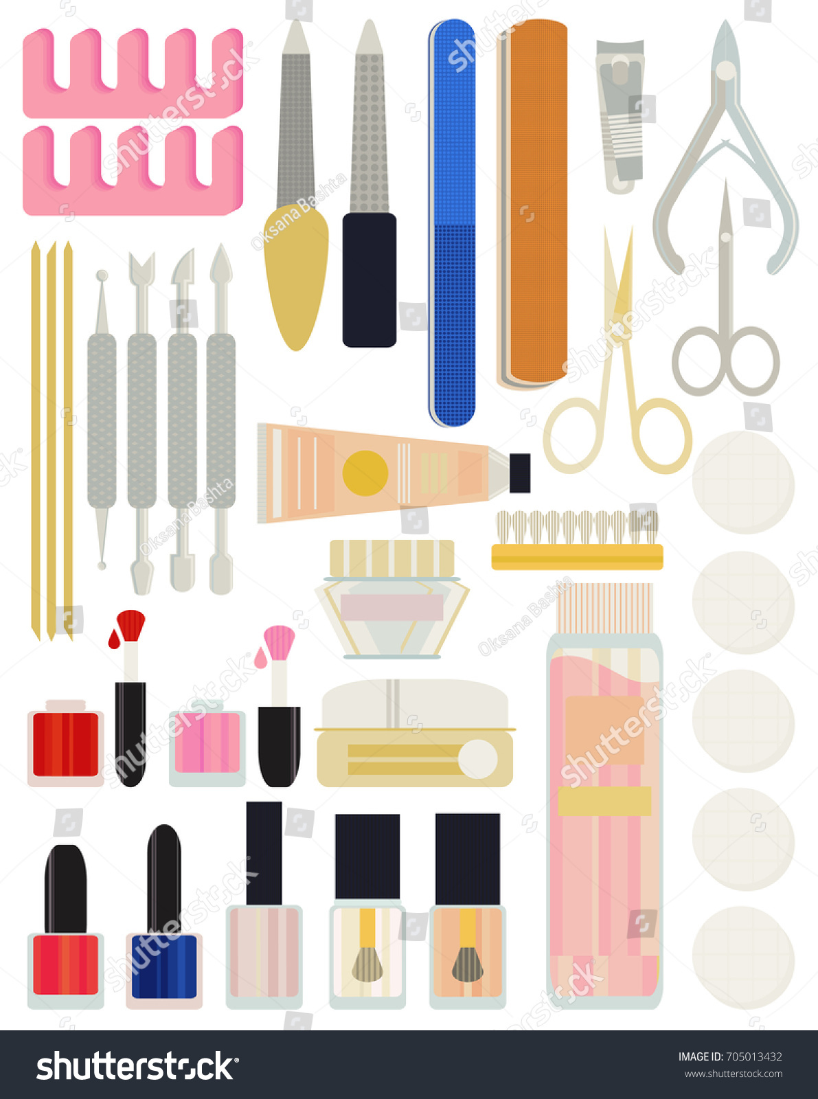 Collection Set Vector Manicure Nail Files Stock Vector HD (Royalty ...