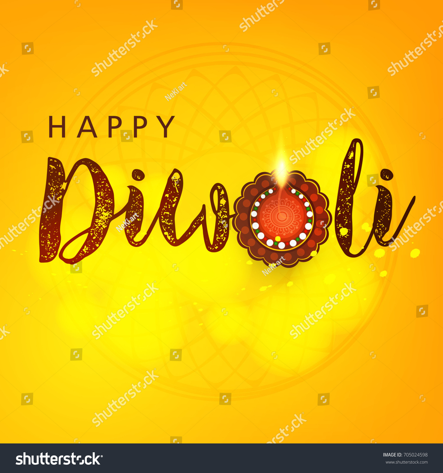 Happy Diwali Greeting Card Design Happy Stock Vector Royalty Free