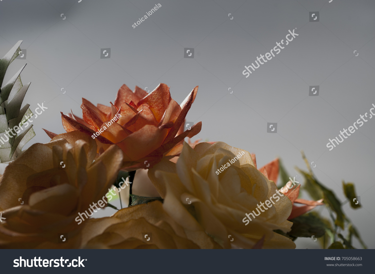 Edible Wafer Paper Flowers Stock Photo Edit Now 705058663