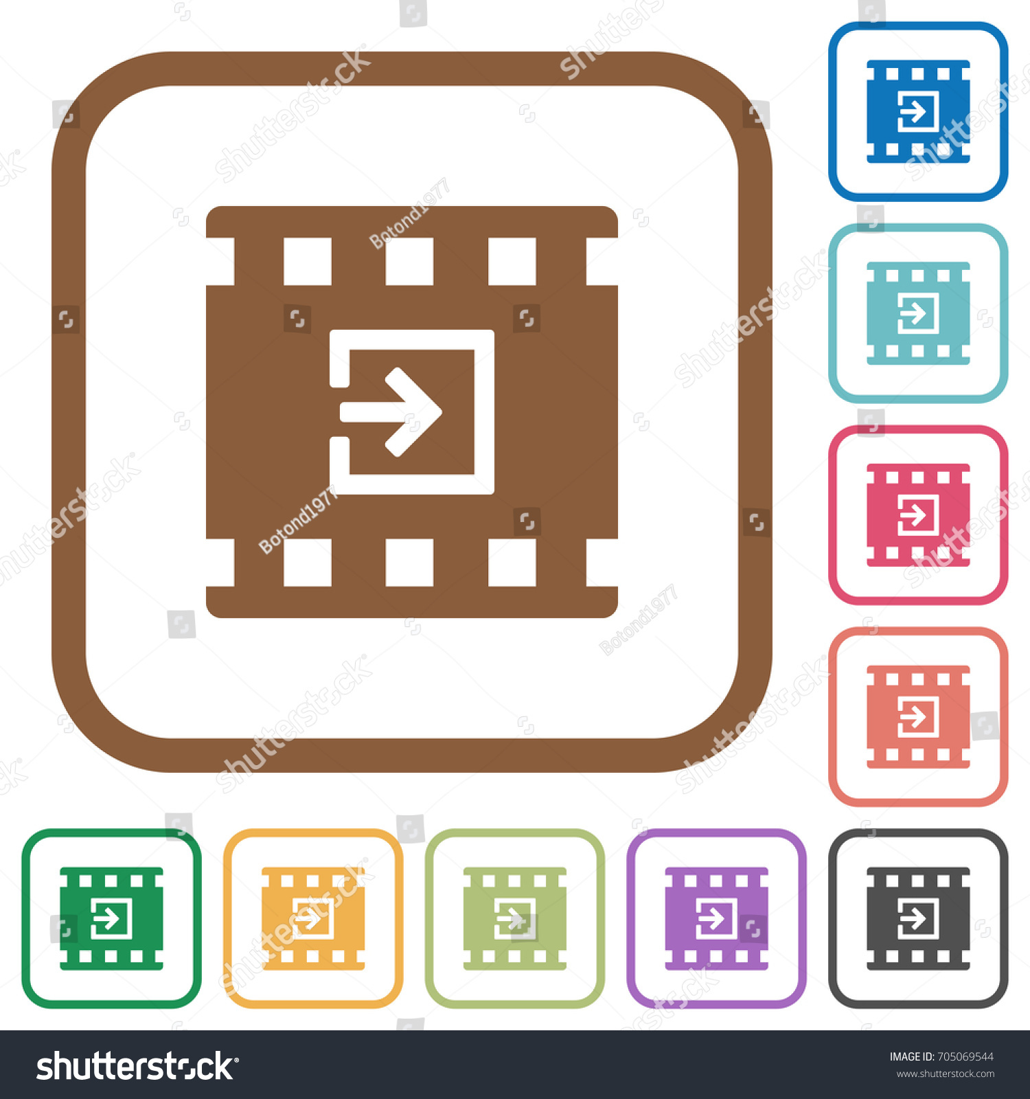 Import Movie Simple Icons Color Rounded Stock Photo (Photo, Vector ...