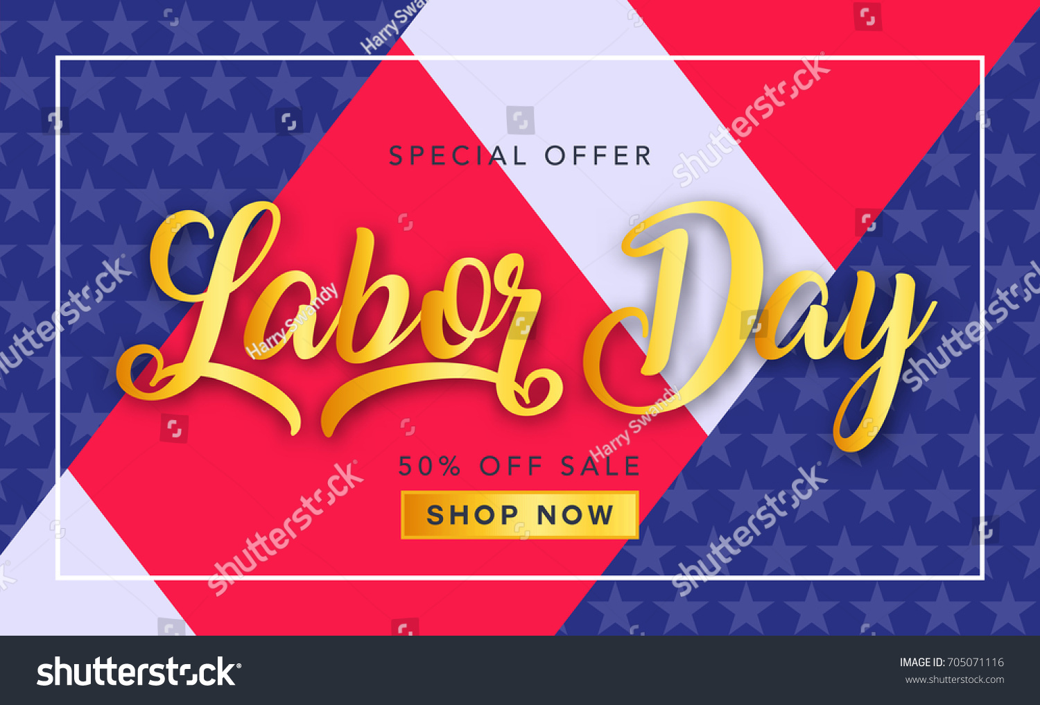 Labor Day Sale Promotion Advertising Banner Stock Vector 705071116