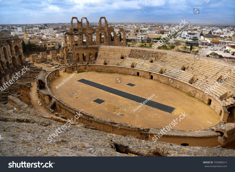 Roman Amphitheatre El Jem Gladiatorial Arena Stock Photo Edit Now