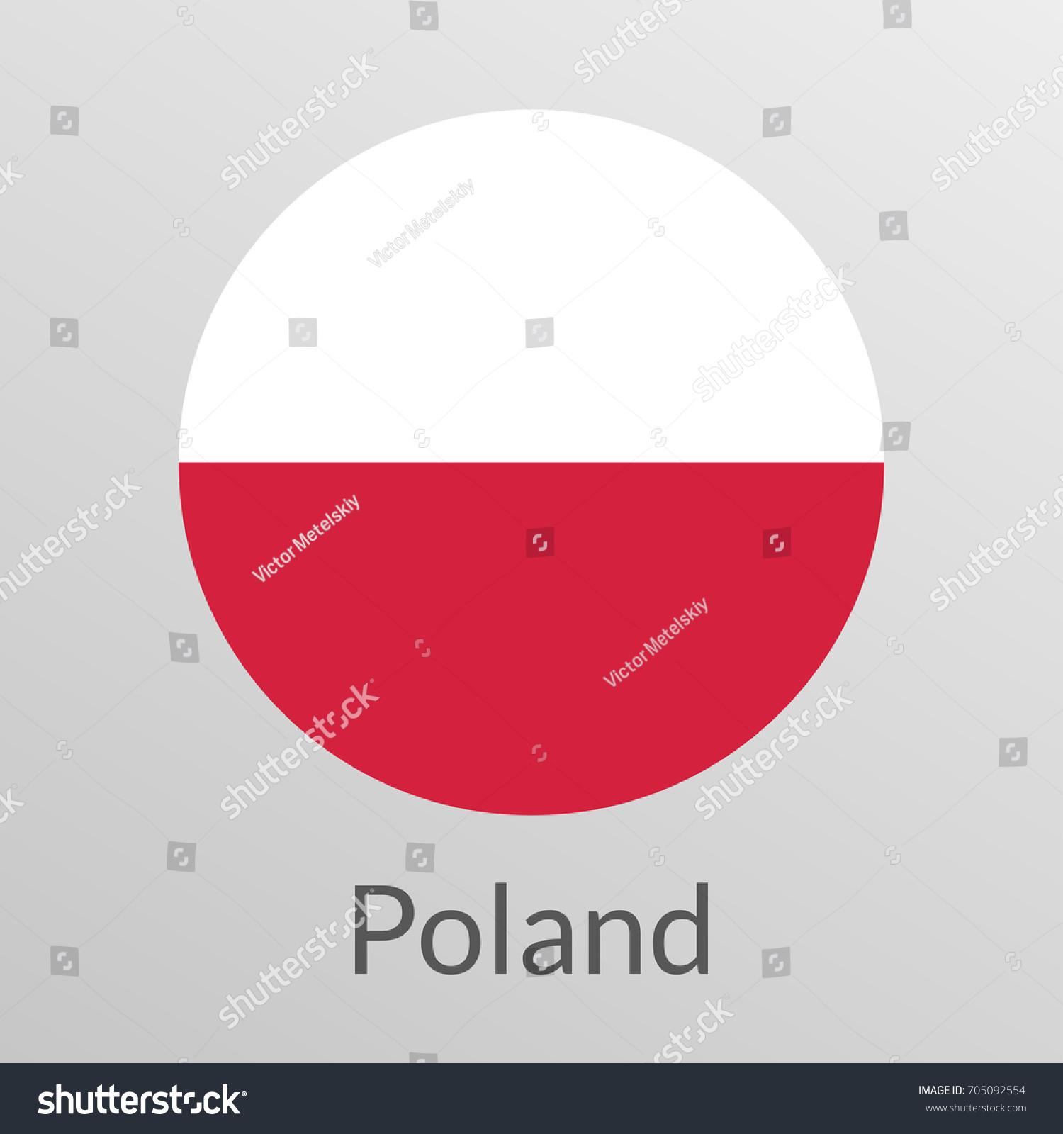 Flag poland round icon badge button stock illustration 705092554 flag of poland round icon badge or button polish national symbol biocorpaavc