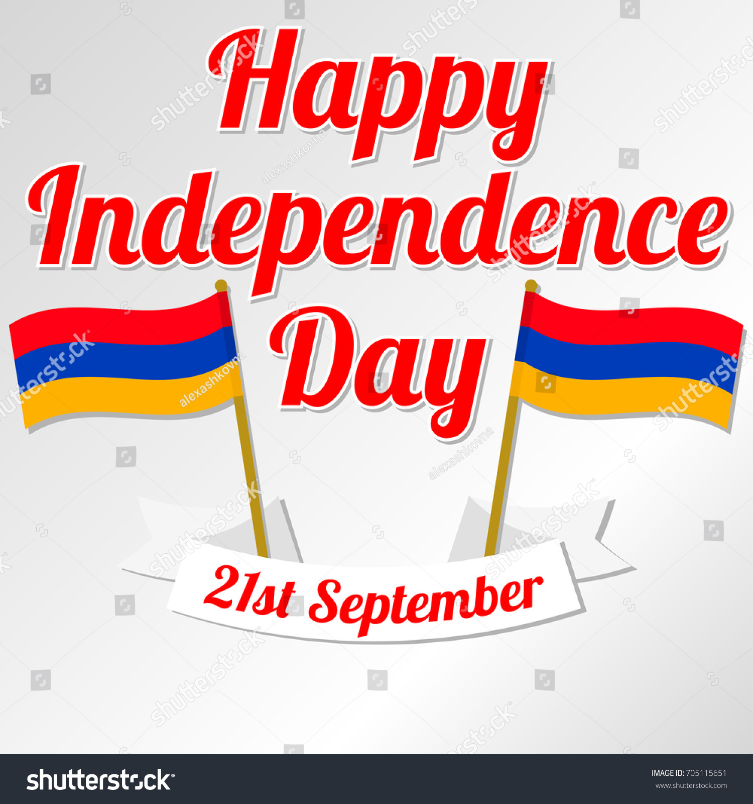 Happy Independence Day Armenia Vector Illustration Stock Vector
