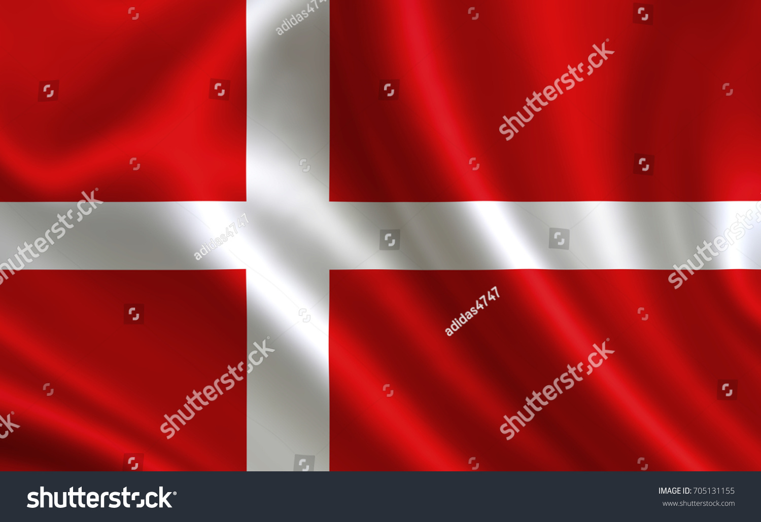 Denmark Flag Series Flags World Country Stock Illustration - Denmark flags