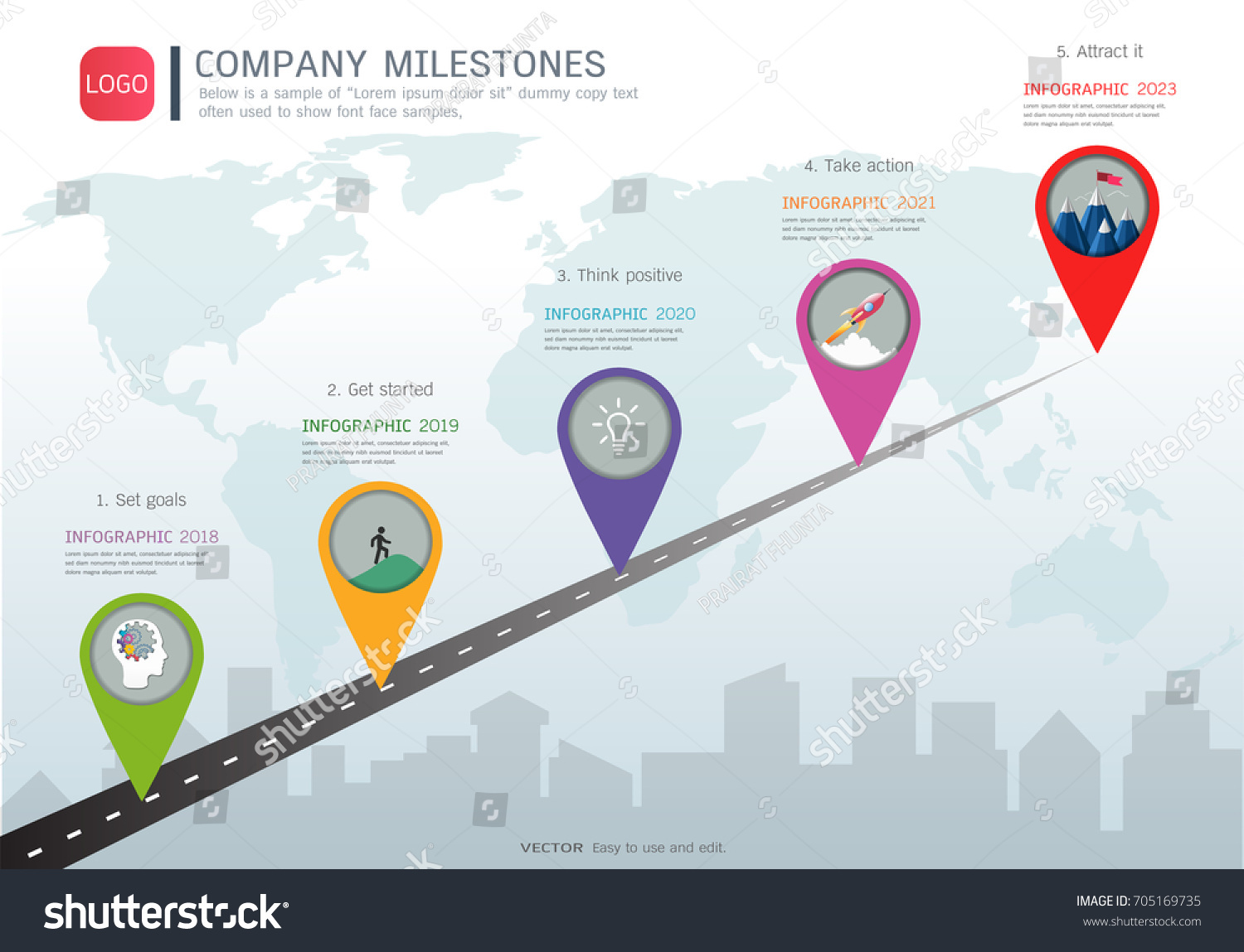 Milestone Timeline Infographic Design Road Map Stock Vector (Royalty on company mission, company leadership, company registration, company goals, strategy map, company gardens map, company resources, company management, company department map, company art,