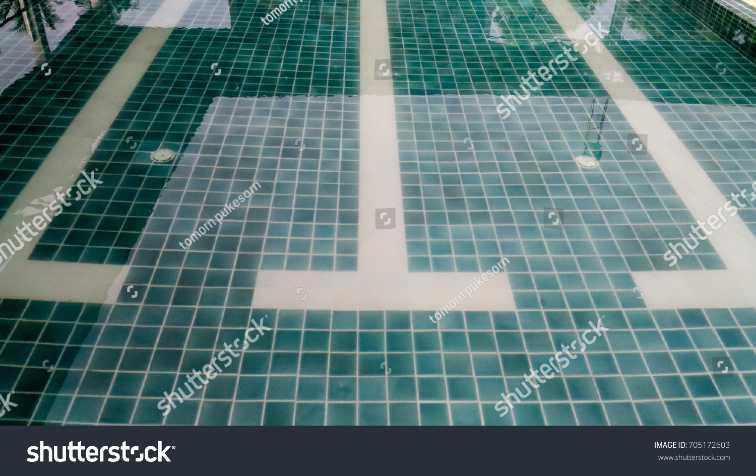 Ceramic Tile Texture Under Water Swimming Stock Photo Edit Now