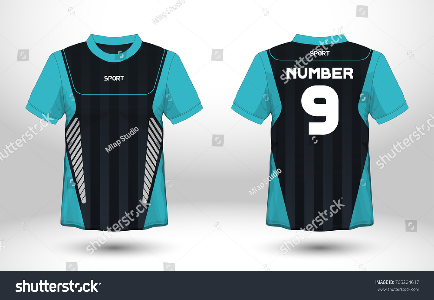 Royalty Free Blue And Black Layout Football Sport T 705224647