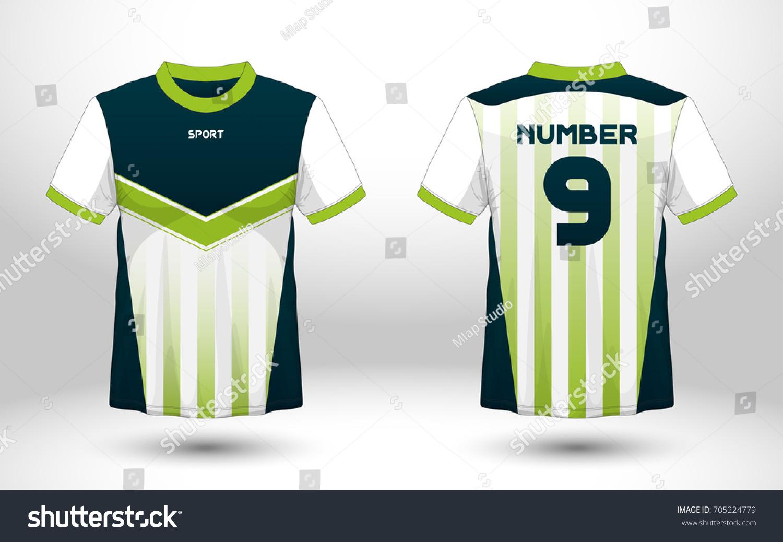 ecf50746e Blue White Layout Football Sport Tshirt Stock Vector Royalty Free