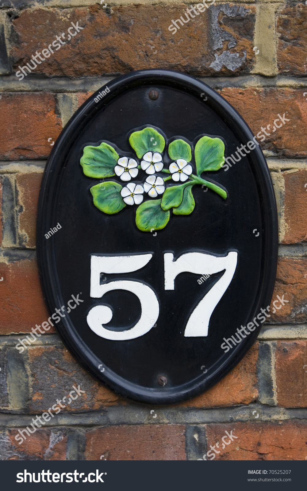 Fifty Seven House Number Stock Photo 70525207   Shutterstock